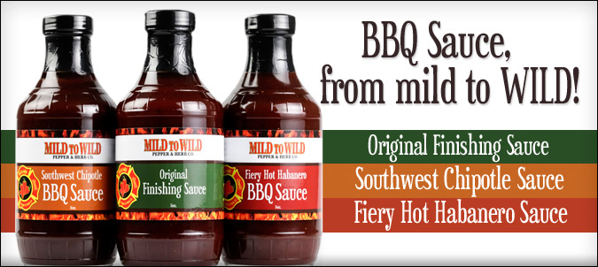 Sound the alarm! Mild to Wild delivers the heat in your BBQ sauce.